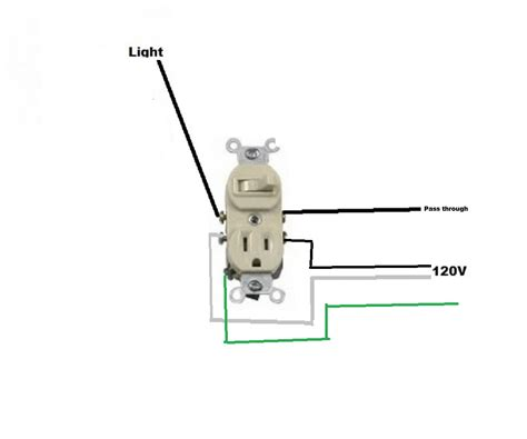 light switch and outlet combo combo switch outlet wiring diagram combo switch and