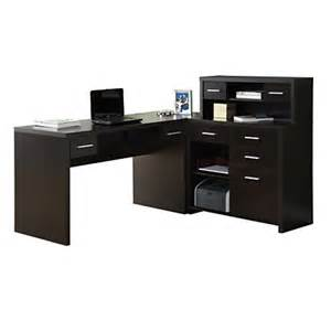 Desk L Office Depot Monarch Specialties L Shaped Computer Desk 44 X 63 X 59 Cappuccino By Office Depot Officemax