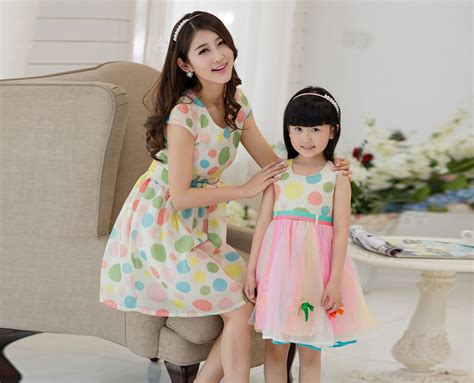 mother dresses son as daughter at bigcloset 2015 summer style mother and daughter clothes dress