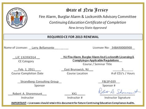 continuing education certificate template certificate of continuing education template image