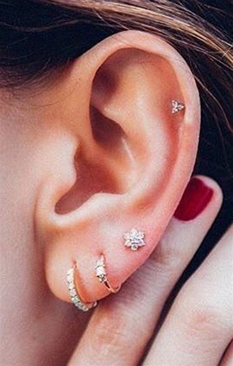 Ear Stud these 30 ear piercing ideas piercings