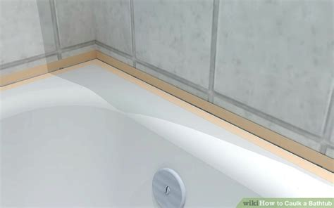 caulking for bathtub how to caulk a bathtub 10 steps with pictures wikihow