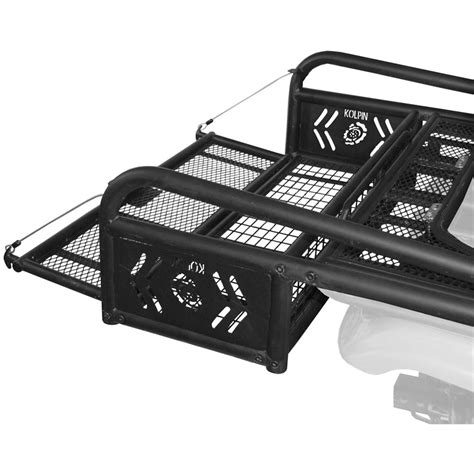 Atv Drop Basket Rack by Kolpin Steel Mesh Atv Rear Rack Drop Basket With Tailgate