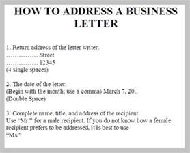 How To Address Business Letter Format Address A Business Letter Business Letter Examples