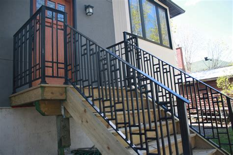 cast iron banister cast iron metal railings for stairs porches and decks