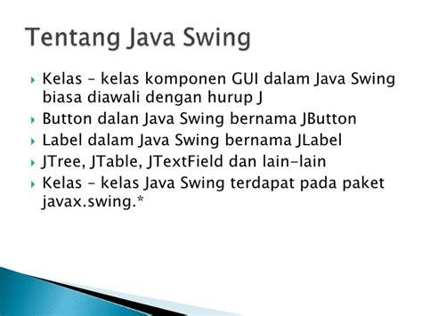 java swing jtree java swing jtree pengenalan java swing java swing tips