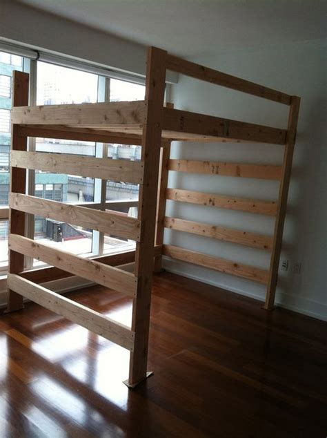 loft frame bed size projects to try
