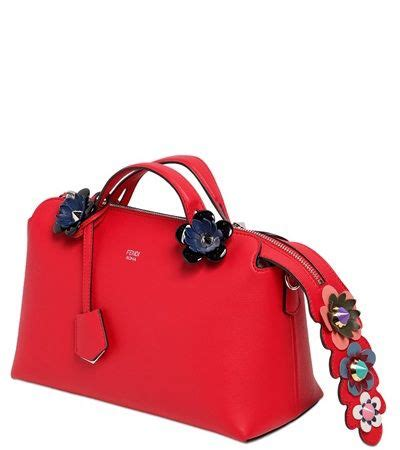 Fendi By The Way Flower Applique Crossbody 8017 fendi metallic floral clutch fendi handbags outlet
