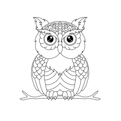 tawny owl coloring page 93 best coloring pages images on pinterest coloring