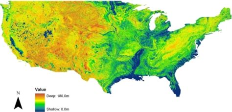 Water Table Map by Map Of The Simulated Equilibrium Water Table Depth For