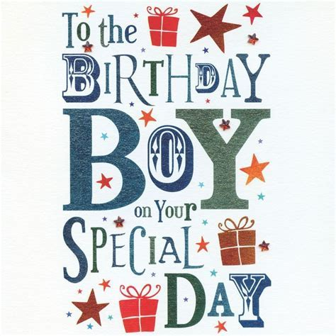 Birthday Boy Birthday Card   Karenza Paperie