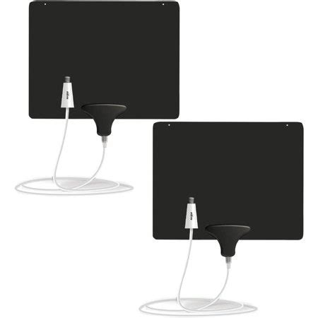 mohu ultimate flat 50 mile indoor lified hdtv antenna 2 pack walmart