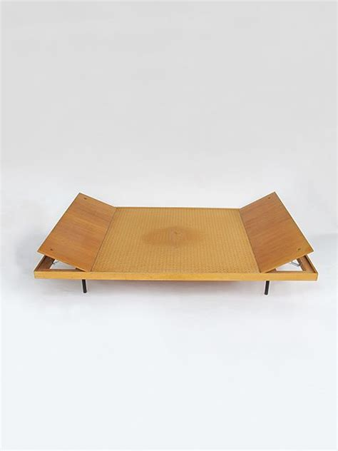 thut mobel furniture kurt thut maple lacquered steel and pegboard daybed for