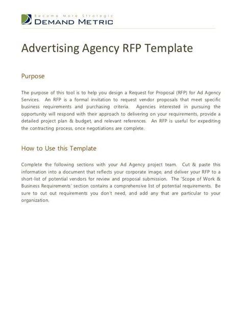 rfp digital marketing templates word excel templates