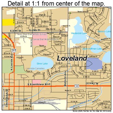loveland colorado map loveland colorado map 0846465