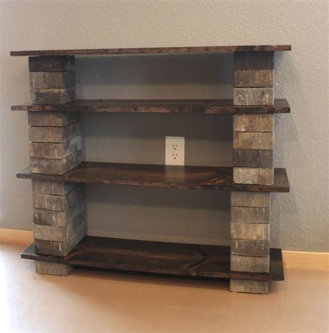 diy concrete block bookshelf shelving ideas diy