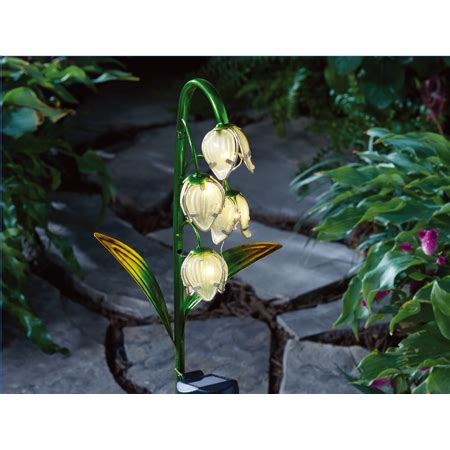 homes  garden lily  valley solar stake light