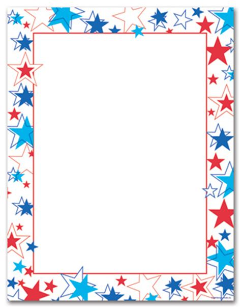 printable star frames free printable music borders personalize your card