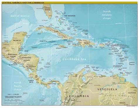central america and the caribbean political map large scale political map of central america and the