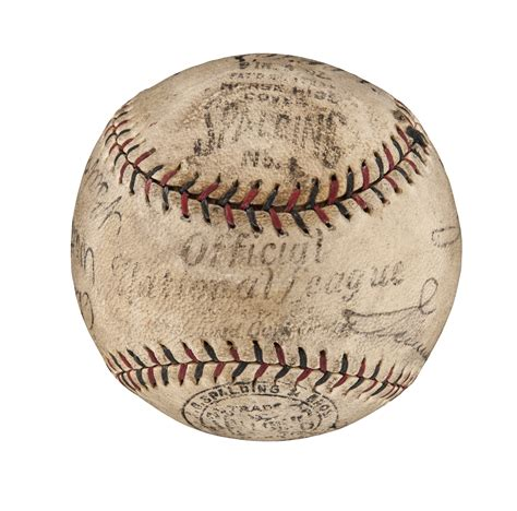 Lot Detail Incredible Baseball Signed By Babe Ruth Lou