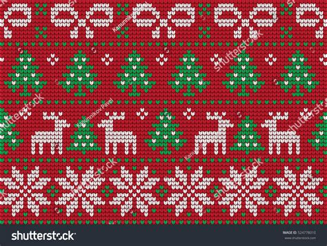 christmas patterns early years knitted christmas new year pattern stock vector 524778010