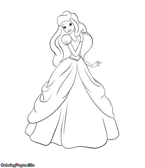 Beautiful Princess Coloring Page Beautiful Princess Coloring Pages