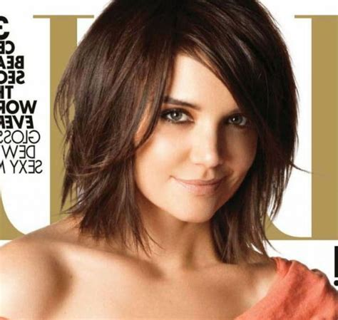 shoulder length hair style pointed chin chin length for katie holmes 2015 new hairstyles 10