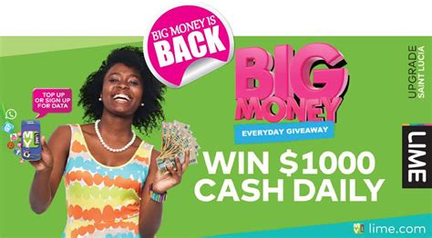 Big Money Giveaway - lime big money giveaway is back st lucia news online