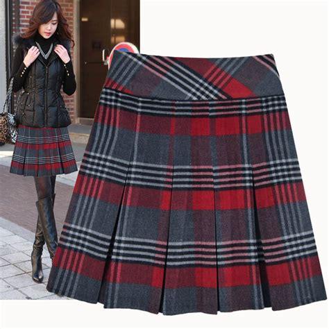 plaid skirt womens redskirtz