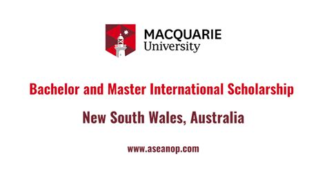 Of South Wales Mba Scholarship by Bachelor And Master International Scholarship Macquarie