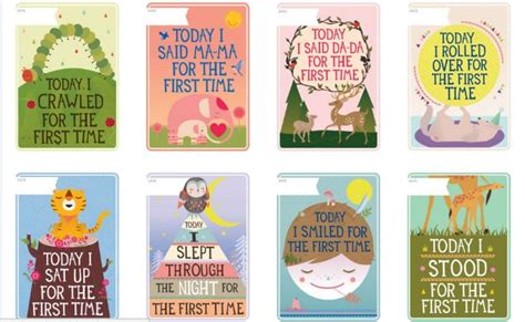 baby milestone card template all the milestones to remember with milestone cards