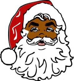 black santa clipart clipart suggest