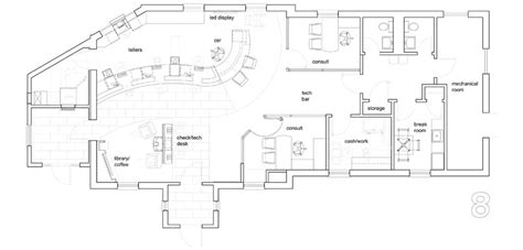 floor plan of proposed new banking quarters for the royal bank of canada vancouver b c the savings bank greenwood