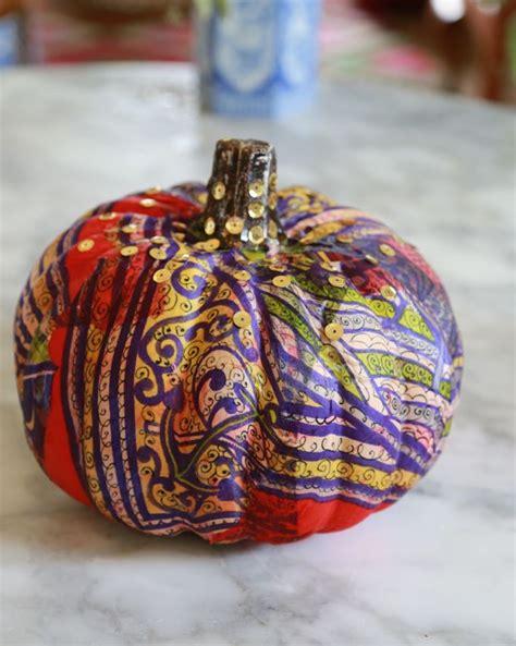silk scarf pumpkins