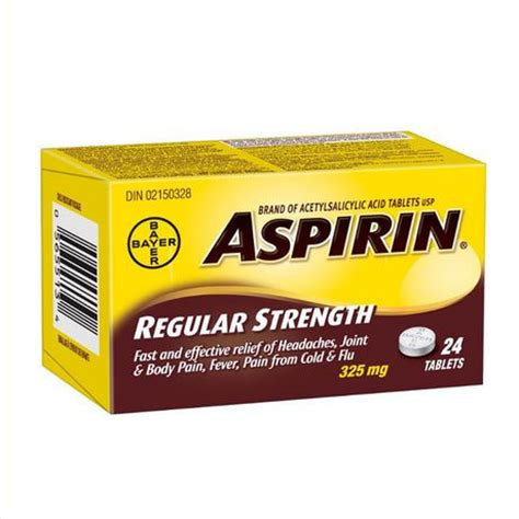 aspirin walmart aspirin 174 regular strength tablets walmart canada