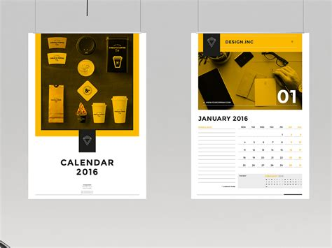 calendar templates for photoshop cs6 calendar 2016 and 2017 on behance
