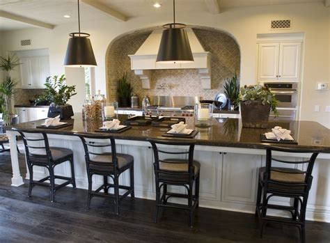 large kitchen island table 35 captivating kitchens with dining tables pictures