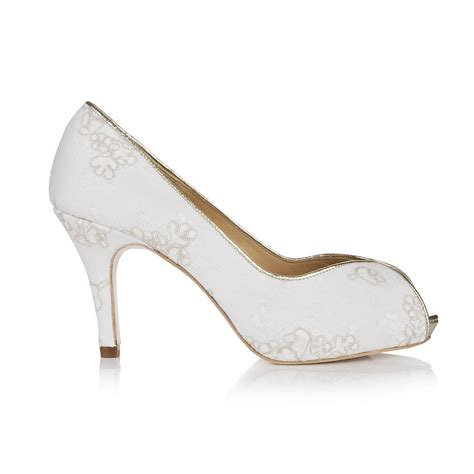 Wedding Shoes Ivory Lace by Ivory Lace Wedding Shoes By