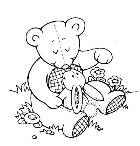 Teddy Bear Coloring Pages For Kids Coloringpagesabc Com Teddy Coloring