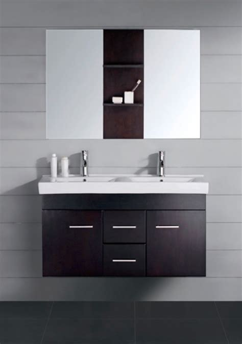 47 inch modern double sink bathroom vanity espresso with