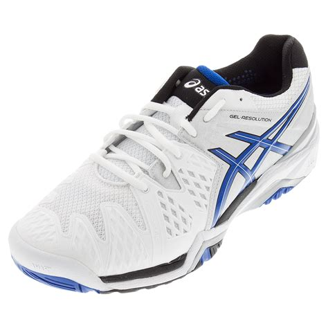 tennis shoes for asics s gel resolution 6 tennis shoes white and blue
