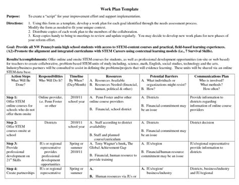 business work plan template appealing business work plan template exle with purpose