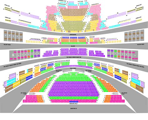 Opera House Seating Plan Tickets Royal Opera House