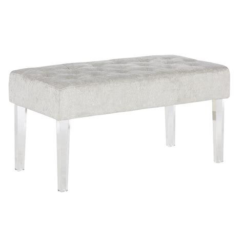 linon ella acrylic leg bench linon home decor ella clear bench 368261plat01 the home
