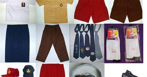 Baju 1 Set jual 1 set baju seragam sekolah murah lengkap konveksi