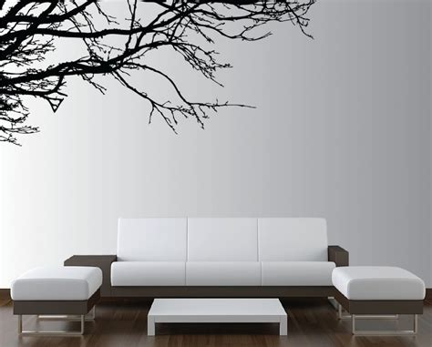 modern wall decals for living room wonderful simplicity tree branches silhouette wall decal for modern living room decorating