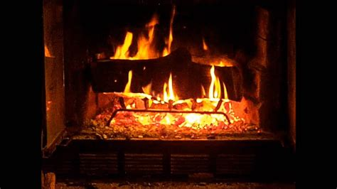 Log Burning Fireplace by 1080p Real Yule Log Burning Sounds No