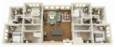 4 Bedroom Apartment Floor Plans by 4 Bedroom Apartment House Plans Futura Home Decorating
