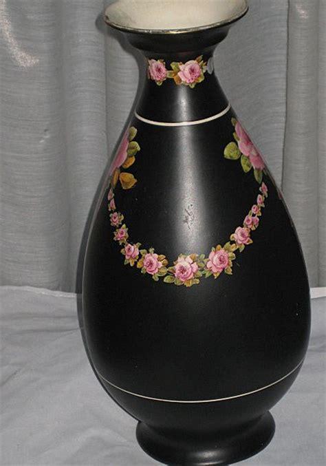 Crown Ducal Vase by 2die4 Large 1920 S Crown Ducal Black Chintz Vase With Pink