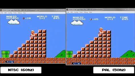 format video pal vs ntsc super mario bros synched ntsc vs pal youtube